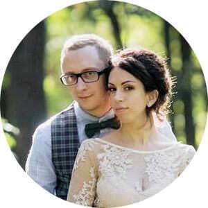 Молодожены  Андрей и Катя